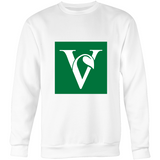 'V' Sweatshirt - White/Grey