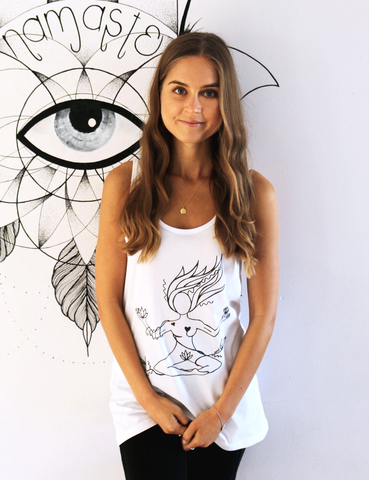 Earth Goddess Tulip Singlet - White