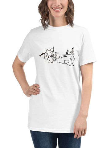 Kissing Cows Organic Tee - White