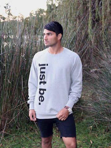 Organic Cotton Vertical Print Sweatshirt