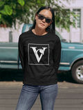 Vegan 'V' Sweatshirt - Black/Navy