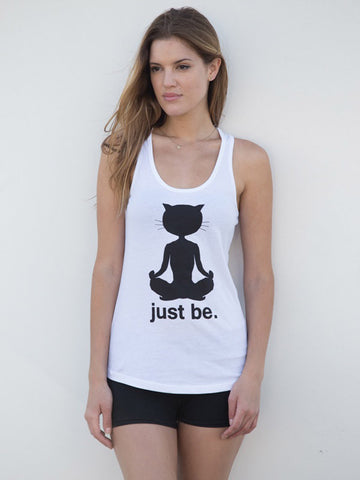 Organic Cotton 'Yoga Cat' Tank
