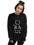 Yoga Cat Sweatshirt - Black