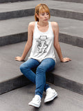 Yoga Cat Singlet - White