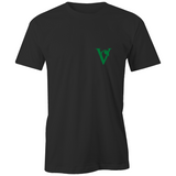 Little Vegan 'V' Logo Organic Tee - Black / White
