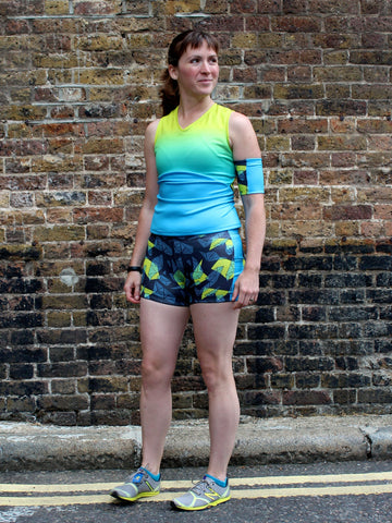 Melissa wearing her VNA Top and Duathlon Shorts