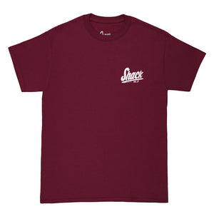 Dual Basic - T-Shirt - Burgundy - Shack Clothing