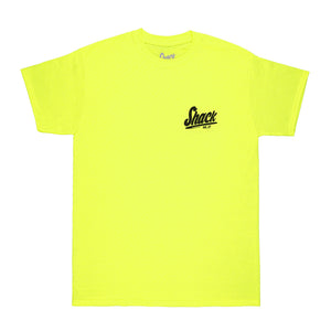 Dual Basic - T-Shirt - Safety Green - Shack Clothing
