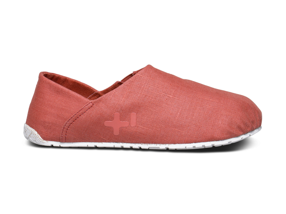 Espadrille lin, coral