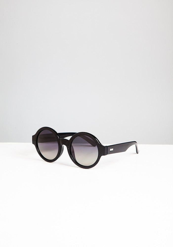 Black round gradient sunglasses