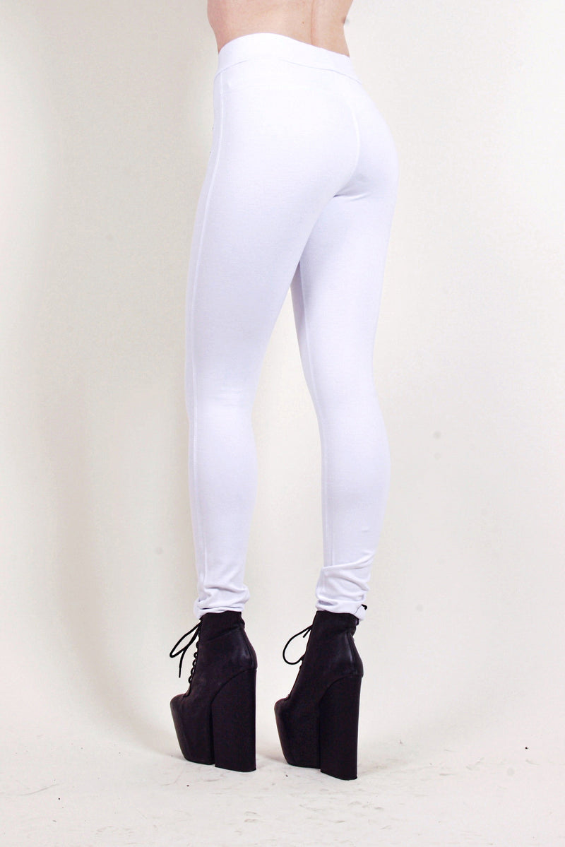 FLEXING SUPER-STRETCH LEGGINGS-PANTS IN WHITE