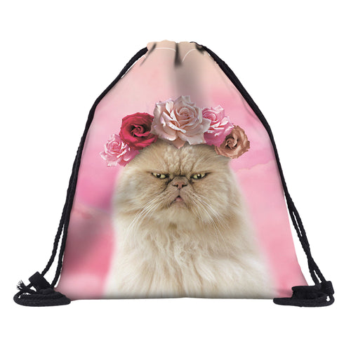 Midsummer Kitty Drawstring Backpack