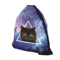Triangle Cat Drawstring Backpack