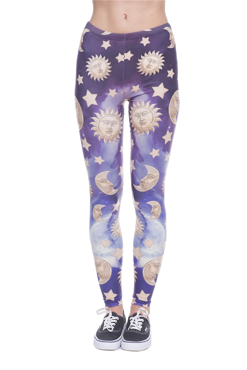 Moon and the sun leggings