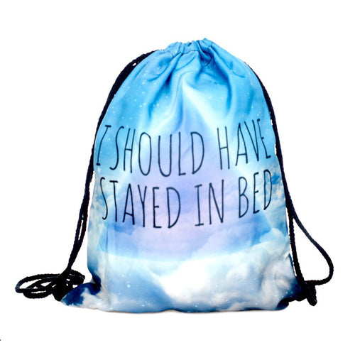 I Should Have Stayed In Bed - Drawstring Backpack