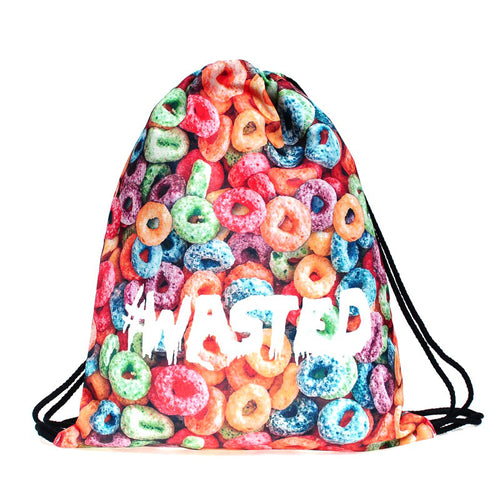 Wasted - Drawstring Backpack