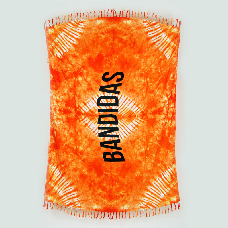 Bandidas tie-dye festival blanket - orange energy