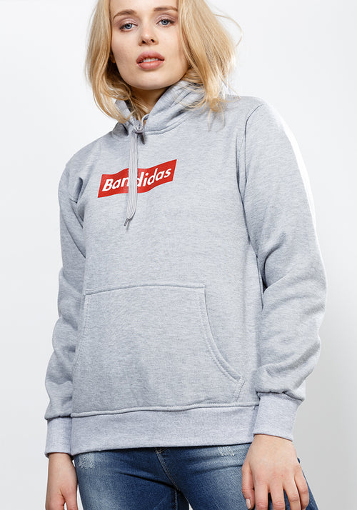 Bandidas red box classic fit hoodie in grey