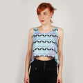 ALIEN, CARTOON CROP TOP