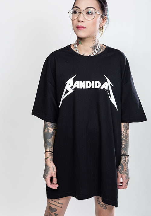 Master of puppets Bandidas oversize tee in black
