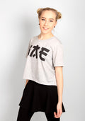 BAE CROP TEE, GREY - BNDS
