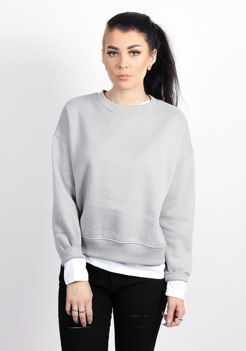 Crew neck sweatshirt in sand color