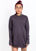 Bandidas longsleeve shirt dress in dark grey