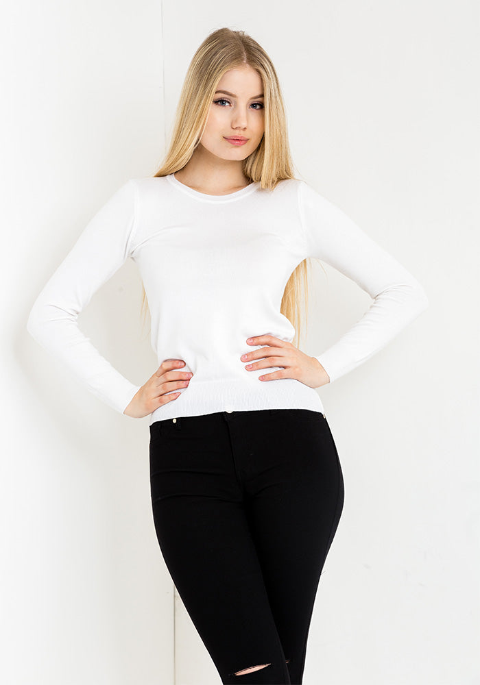 Angel sweater in white