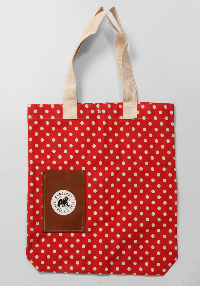 Bandidas Red Dotty Tote Bag