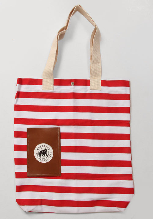 Bandidas Red Stripe Tote Bag
