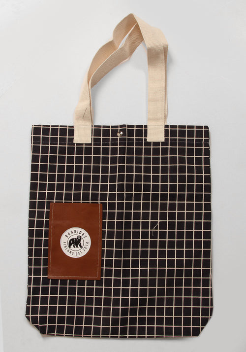 Bandidas Checkered Black Tote Bag