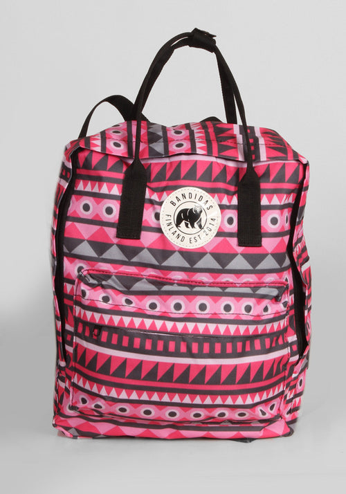 Little Sister Backpack in Pink Aztec