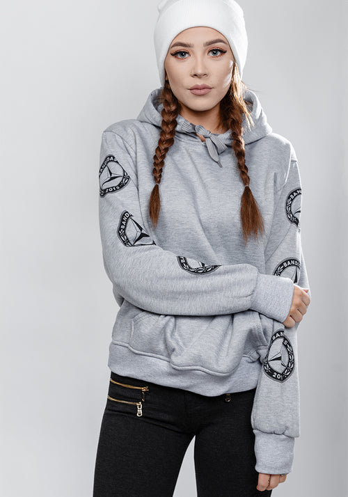 Bandidas star classic fit hoodie in grey