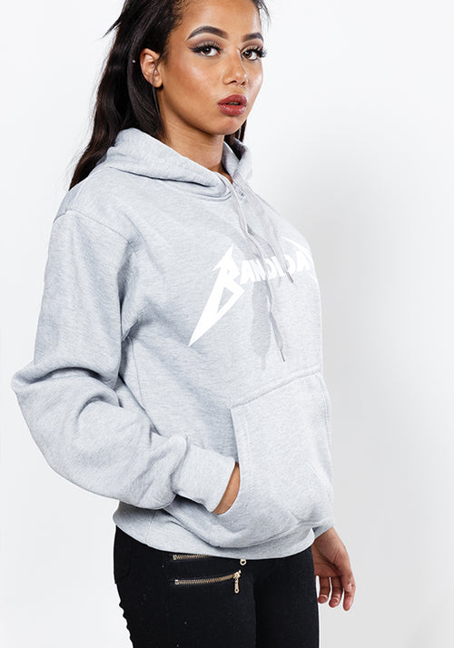 Master of puppets Bandidas classic fit hoodie in grey