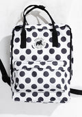 Little Sister Backpack in Polka Dot White