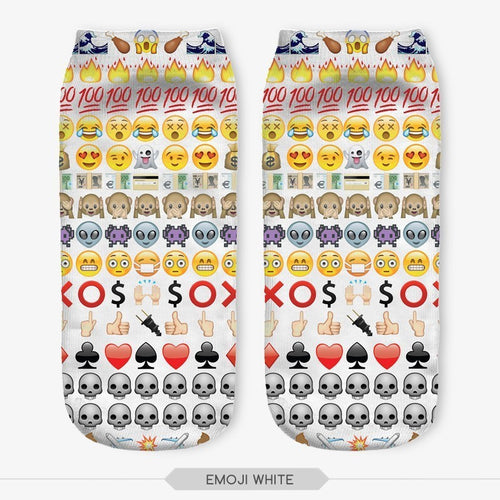 Ankle socks - Emoji White