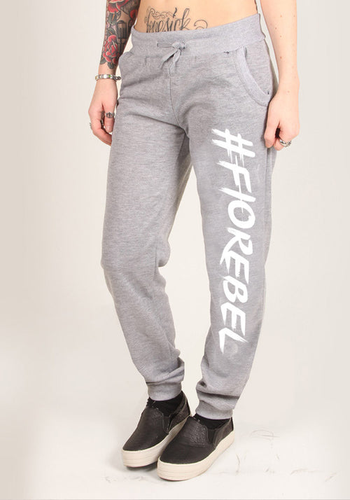 #FIOREBEL - SWEATPANTS, GREY