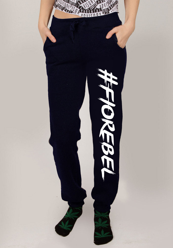 #FIOREBEL - SWEATPANTS, NAVY