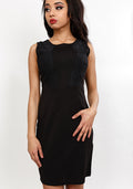 Amelia dress with lace detail in black