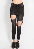 Outlaw High Waist Ripped Jeans