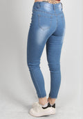 vice high rise skinny jeans light blue