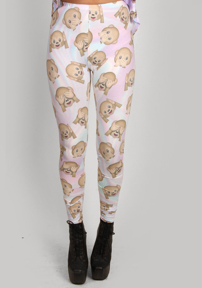 Three wise monkeys BNDS leggings