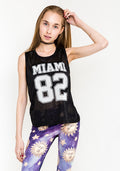 Miami sleeveless top jersey in black