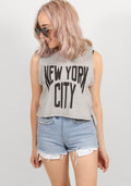 New york moto in grey