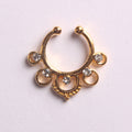 'NEA'  GOLD - FAUX SEPTUM PIERCING