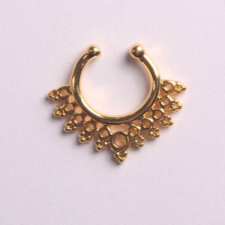 'ILONA'  GOLD - FAUX SEPTUM PIERCING