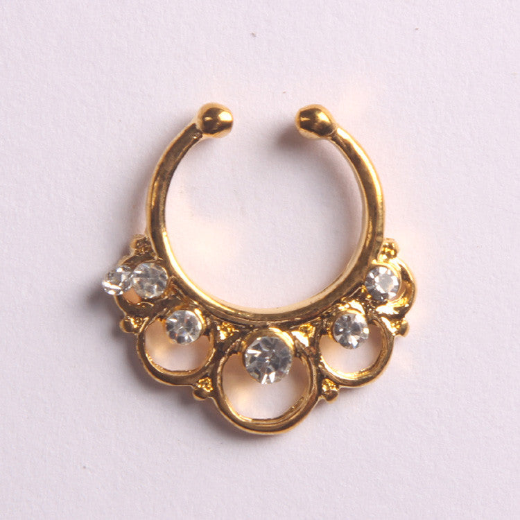 'ANNE'  GOLD - FAUX SEPTUM PIERCING