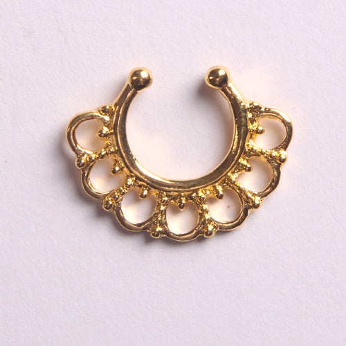 'TRIBAL'  GOLD - FAUX SEPTUM PIERCING