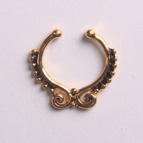 'ARIANA'  GOLD - FAUX SEPTUM PIERCING