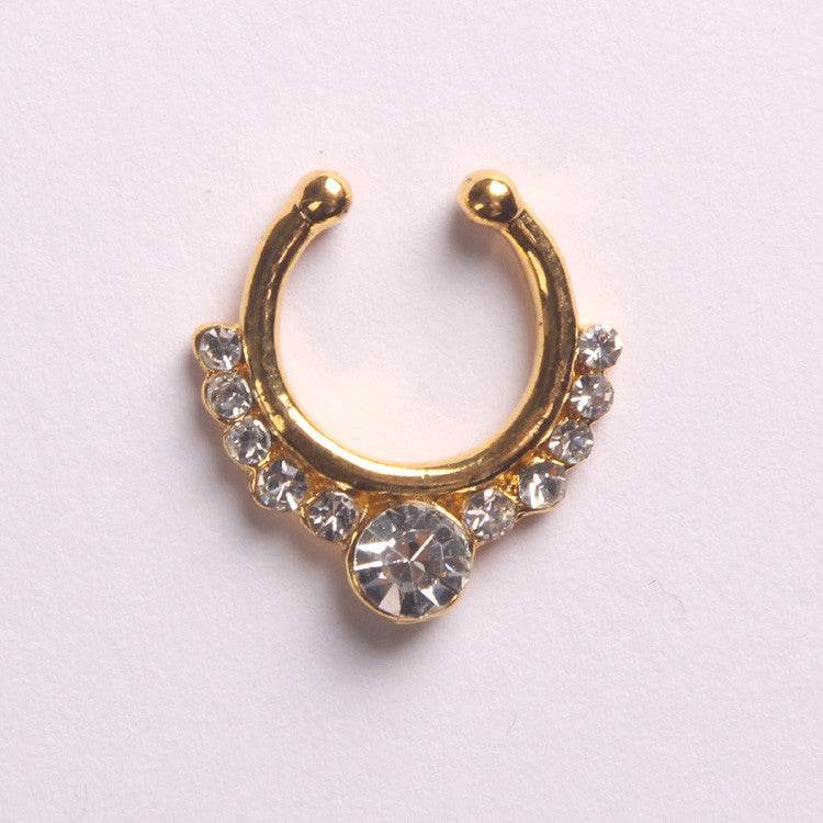 'EMPERAL'  GOLD - FAUX SEPTUM PIERCING